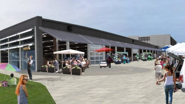 An image by architects Fougere-Menchenton of what the St. John's Farmers' Market space will look like once the old Metrobus depot is renovated.