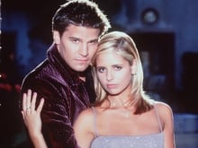 Detail from a publicity poster for the UPN television series 'Buffy The Vampire Slayer.'