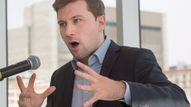 Gabriel Nadeau-Dubois announced his candidacy with Québec Solidaire for the upcoming provincial byelection in the Montreal riding of Gouin.