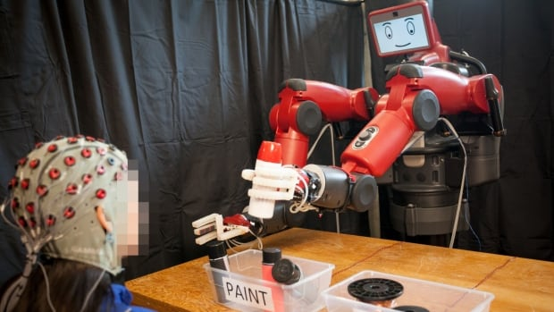 The feedback system allows the operator to correct the robot's mistake in real time.
