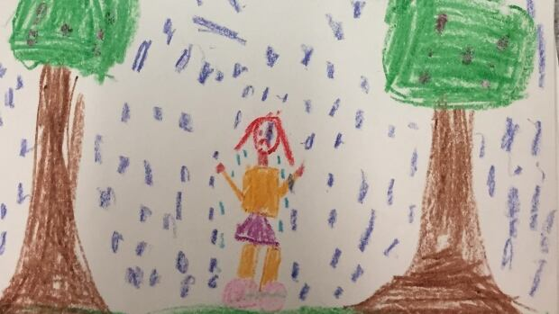 Juli-Anna St. Peter's sister drew this photo to show her sadness at losing Juli-Anna.