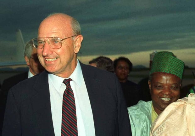 U.S. ENVOY THOMAS PICKERING ARRIVES IN NIGERIA.