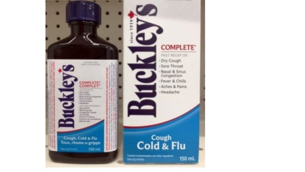 The maker of Buckley's says its voluntary recall applies to products indicated for use by adults and children above 12 years old.