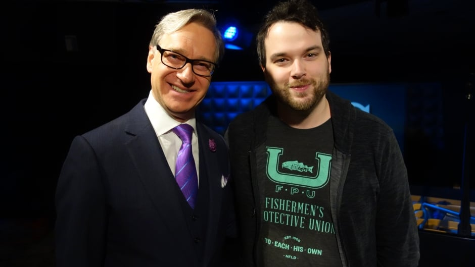 Paul Feig and Tom Power in the q studios in Toronto, Ont.