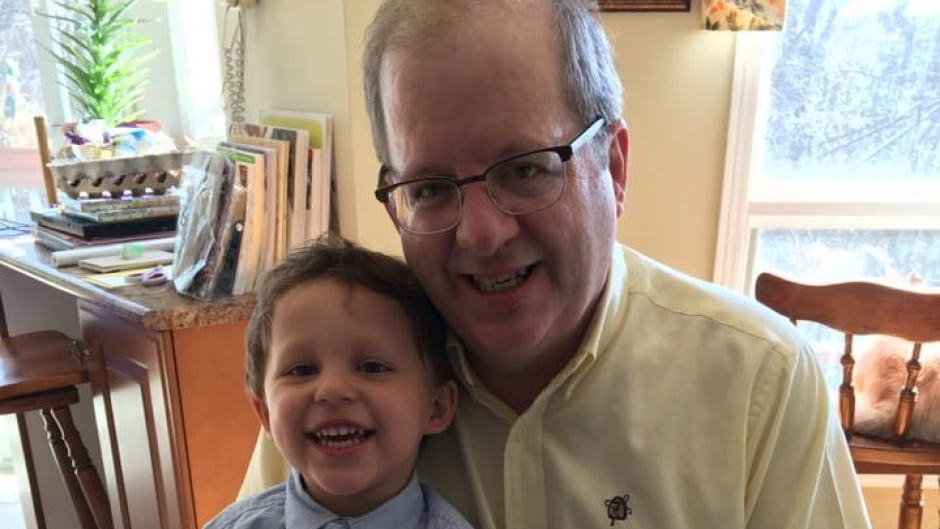 Russ Le Blanc with his grandson. Russ was nearly 50-years-old before he learned he's had ADHD his whole life.