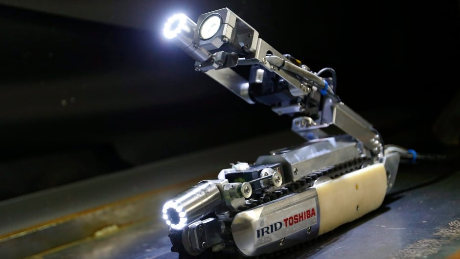 """Toshiba Corp's """"scorpion"""" robot had to be abandoned in Fukushima's Unit 2 reactor when it ran into trouble. It was sent to investigate what happened to the radioactive fuel when the reactor melted down after the earthquake and tsunami that hit Japan in 2011."""