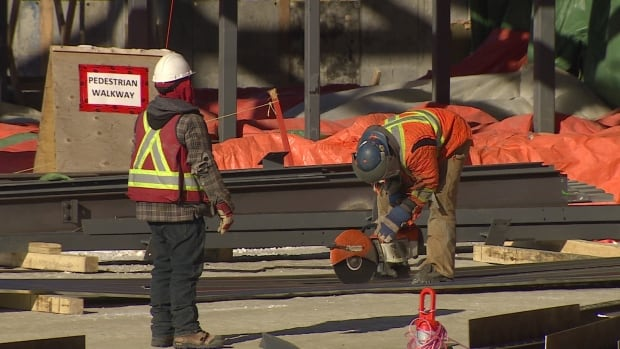 Workers busy on the biggest territorial government project in Yukon history - the $140 million continuing care facility in Whistle Bend.