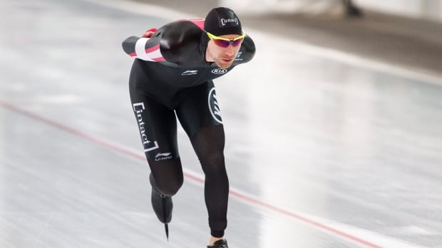 Ted-Jan Bloemen of Canada competes the men's 5000-metre event the long track World Cup in Stavanger, Norway on Saturday.