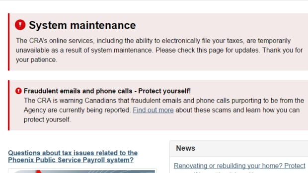 CRA online tax services available again after 2 day shutdown