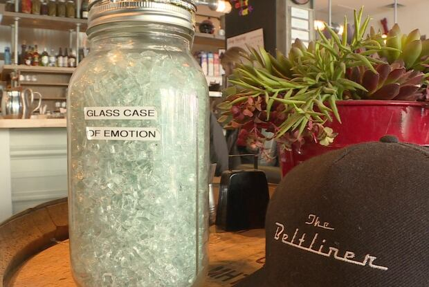 jar of broken glass