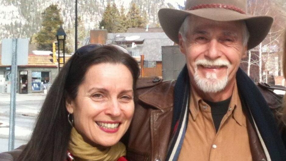 Margot Van Sluytman with Glen Flett, the man who killed her father.