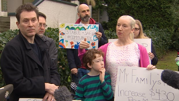 These renters are protesting a substantial rent increase at a property in Vancouver's West End.