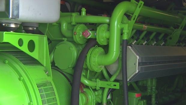 Gas engine in Generator unit