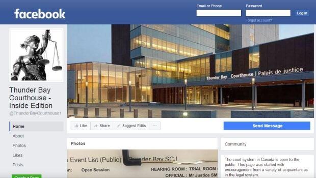 Facebook Thunder Bay court