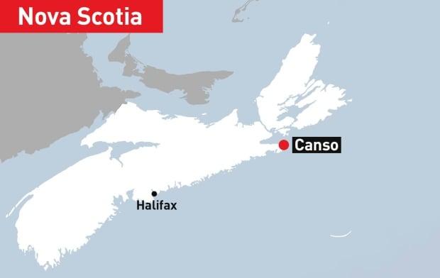 GFX WEB MAP Canso, Nova Scotia