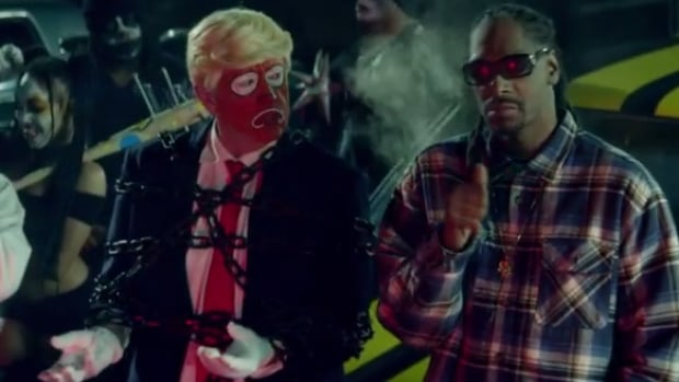 Snoop Dogg's remix of a song by Canadian group BadBadNotGood has sparked some controversy with its politically charged message and satirical music video.