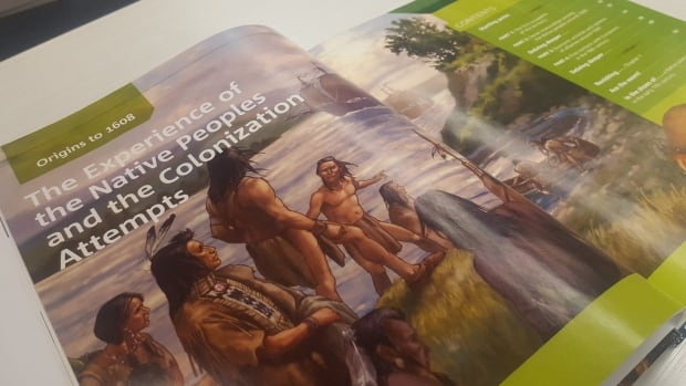 "The textbooks for the Secondary III portion of the history course are being used in classrooms this year. The course begins with the ""experience of the Native peoples and the colonization attempts."""