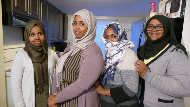 Asha Ahmed and her roommates