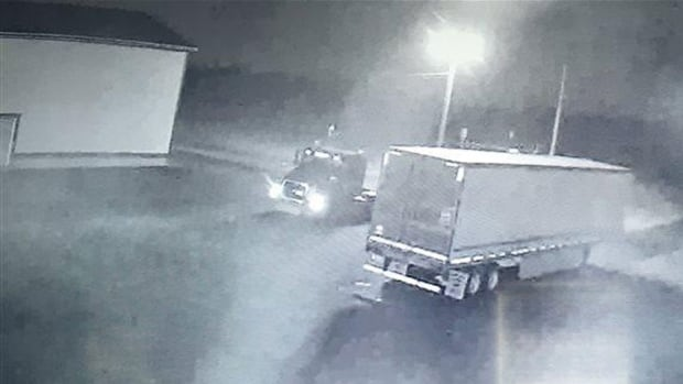 RCMP say a stolen transport truck was used in the theft of a refrigerated unit filled with lobster in Grand-Anse, N.B., on July 1.