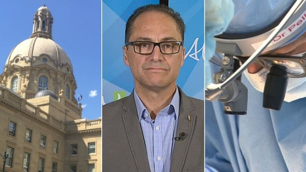Finance Minister Joe Ceci, at centre, will have to contend with Alberta's ballooning health-care costs when he delivers his 2017 budget on Thursday.