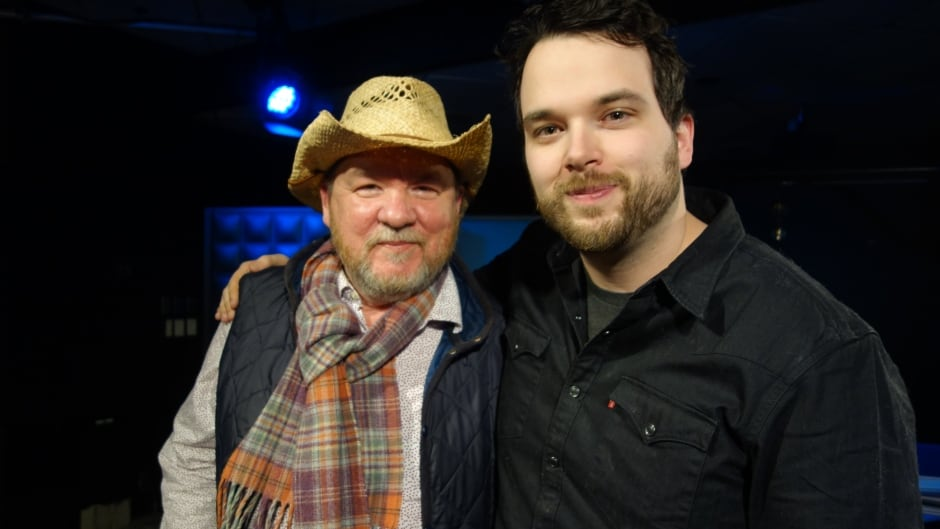 Bruce McDonald and Tom Power in the q studios in Toronto, Ont.