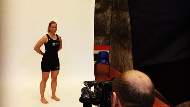 Emily Cameron poses for her official photo for the upcoming Boat Race against Cambridge.