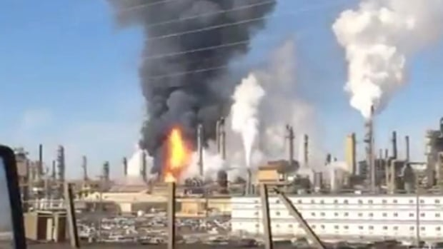 A fire broke out Tuesday at the Syncrude plant north of Fort McMurray, Alta.