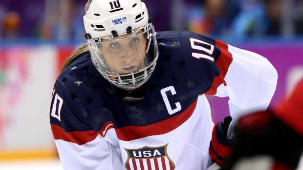 "Captain Meghan Duggan says players are asking USA Hockey ""to fully support its programs for women and girls and stop treating us like an afterthought."" Bruce Bennett/Getty"
