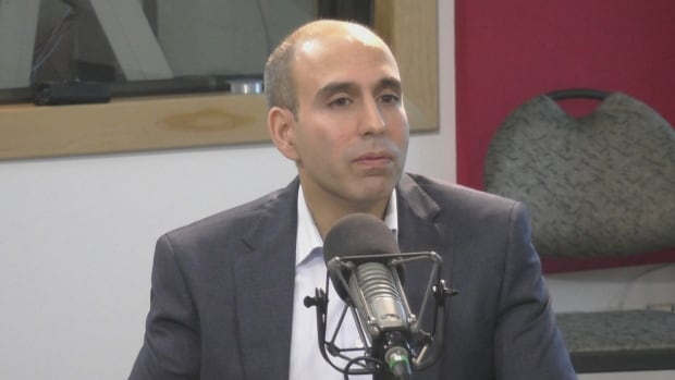 Justin Ladha, seen here during an interview on the St. John's Morning Show, is vice president of KMK Capital Inc., which oversees the Stavanger Drive and Hebron Way commercial power centre.