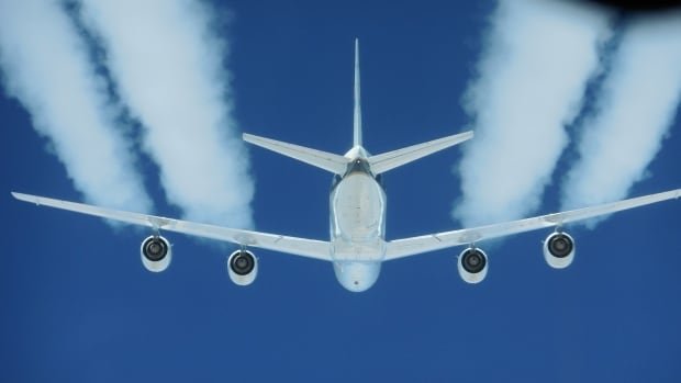 During testing, a DC-8 test plane's four engines burned either conventional jet fuel or a 50-50 blend using renewable alternative fuel produced from camelina plant oil.
