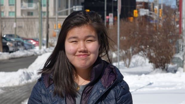 Hullik Kudluk, 15, is from the Inuit community of Kuujjuaq, Que. She's in Ottawa this week on a youth exchange organized by Canadian Roots Exchange.