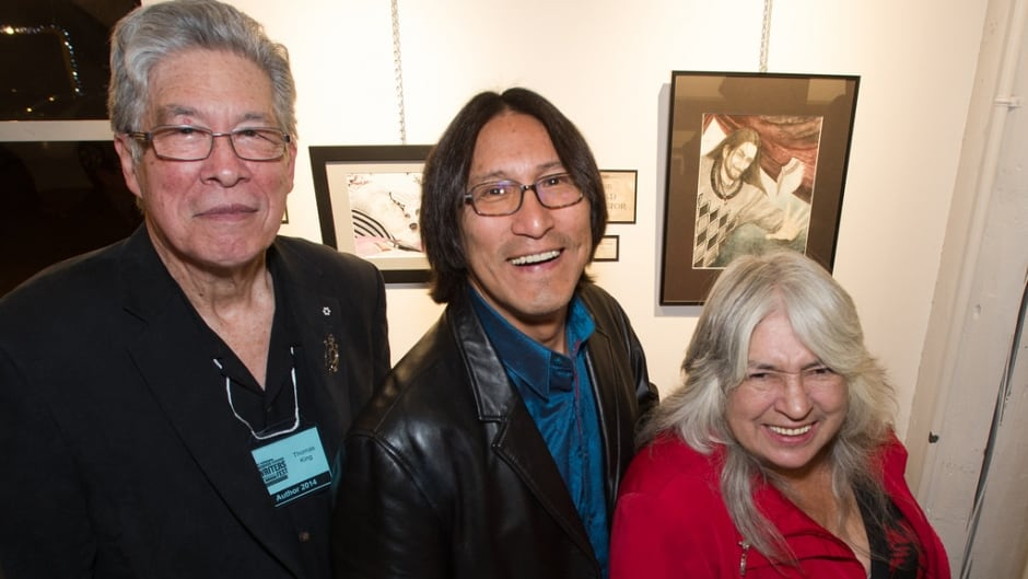 (L - R) Thomas King, Richard Wagamese and Lee Maracle at the Vancouver Writers Festival in 2014