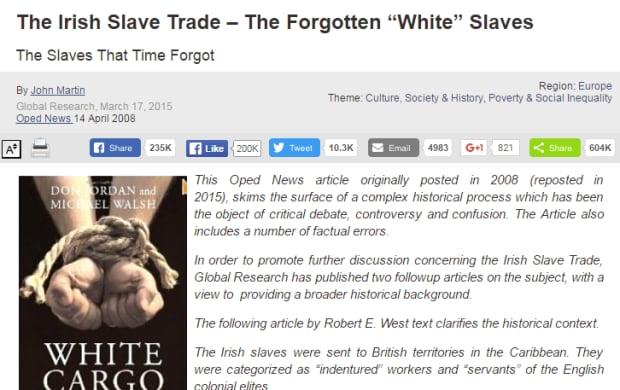 Irish slave trade