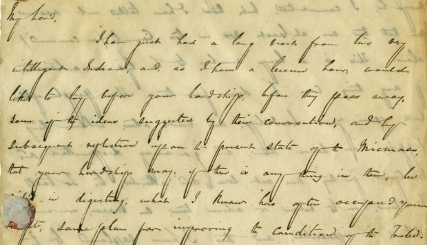 Howe wrote this letter to Lord Falkland in November 1841.