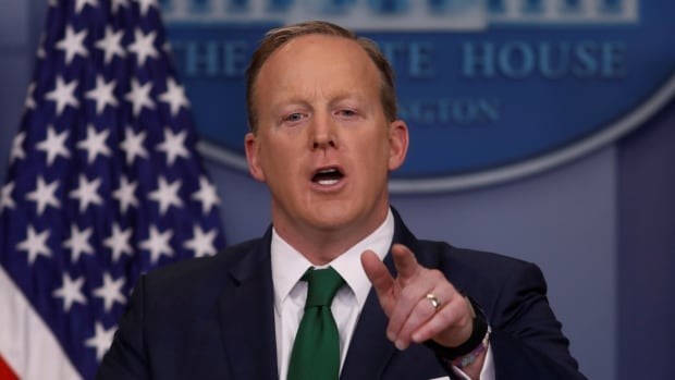 Despite U.S. senators being unequivocal about the lack of evidence to support Donald Trump's claim, White House press secretary Sean Spicer spent several minutes referencing articles to the press corps that he said pointed to possible evidence of surveillance.