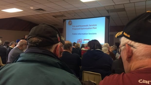 About 200 people attended the final public meeting in Lively before a special city council session on Sudbury's fire optimization plan Mar. 21.