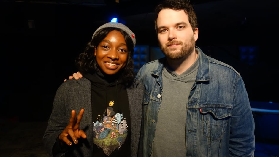 Little Simz and Tom Power in the q studios in Toronto, Ont.