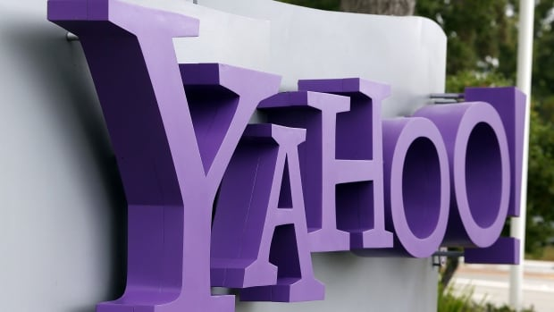 The Yahoo logo is displayed in front of the Yahoo headquarters in July 2012 in Sunnyvale, Calif. The troubled internet giant said all three billion of its accounts were affected by the hack it revealed last year.
