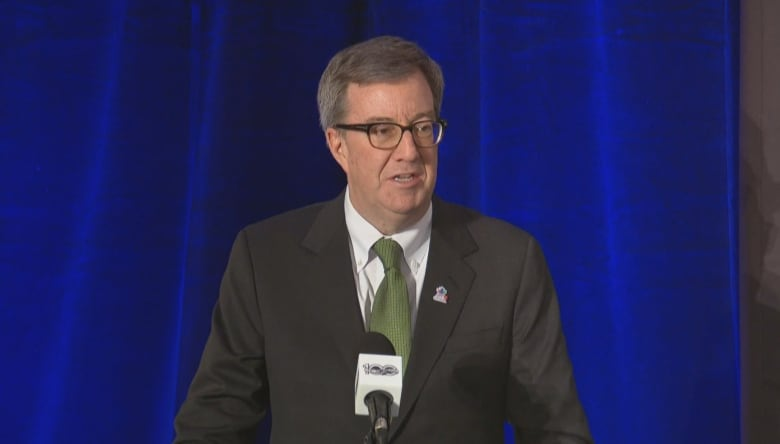 Ottawa Mayor Jim Watson says the outdoor game took  a lot of effort.  (CBC) 542f198de