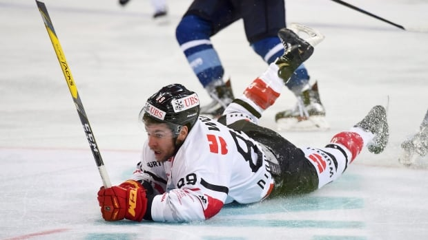 Chris DiDomenico, seen above competing for Canada at the Spengler Cup in December 2016, was drafted in 2007, but took an unconventional path to his NHL debut with the Ottawa Senators this season.