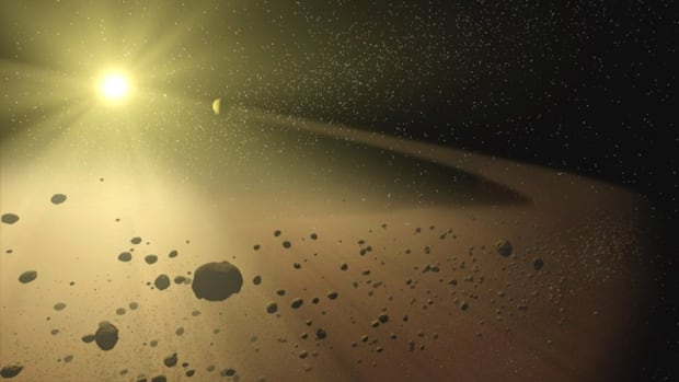 asteroid belt illustration