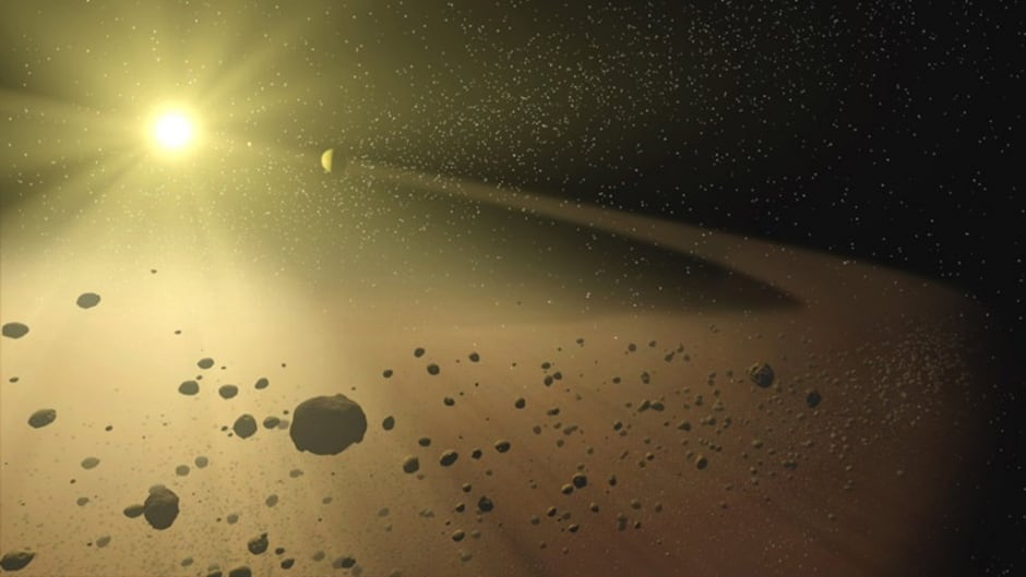 Could an alien spacecraft be hiding among these asteroids ?