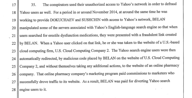 FBI YAHOO HACKERS INDICTMENT SCREENGRAB BELAN ED PILLS