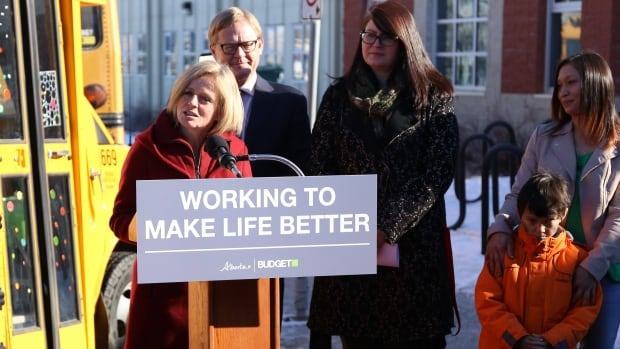 Premier Rachel Notley says her government had no choice but to run another big deficit and go deeper into debt in order to defend key services such as education and health care.