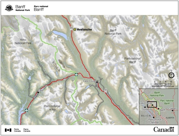 Mount Hector Avalanche map