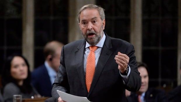 Outgoing NDP Leader Tom Mulcair says the NDP can both act to influence federal policies while keeping its eye on trying to form government.