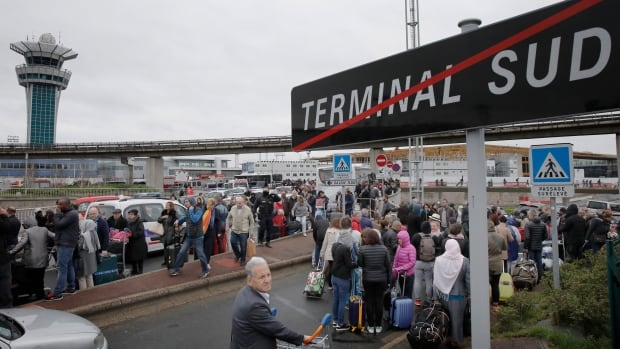 Passengers had to evacuate the southern terminal of Orly airport after the security breach.