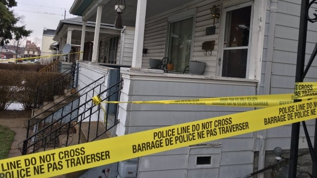 Police investigated the scene of a fatal shooting on Elsmere Ave. near Erie St. in Windsor.