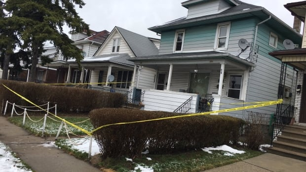 Police were still on the scene on the Saturday afternoon after a fatal shooting on Elsmere Ave.