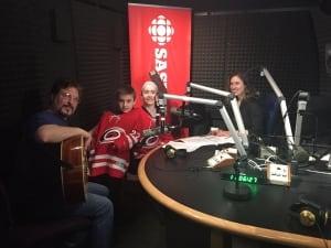 Hockey Pants performance at CBC Saskatoon